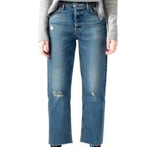 GRLFRND Helena High Rise Straight Crop in Sixpence